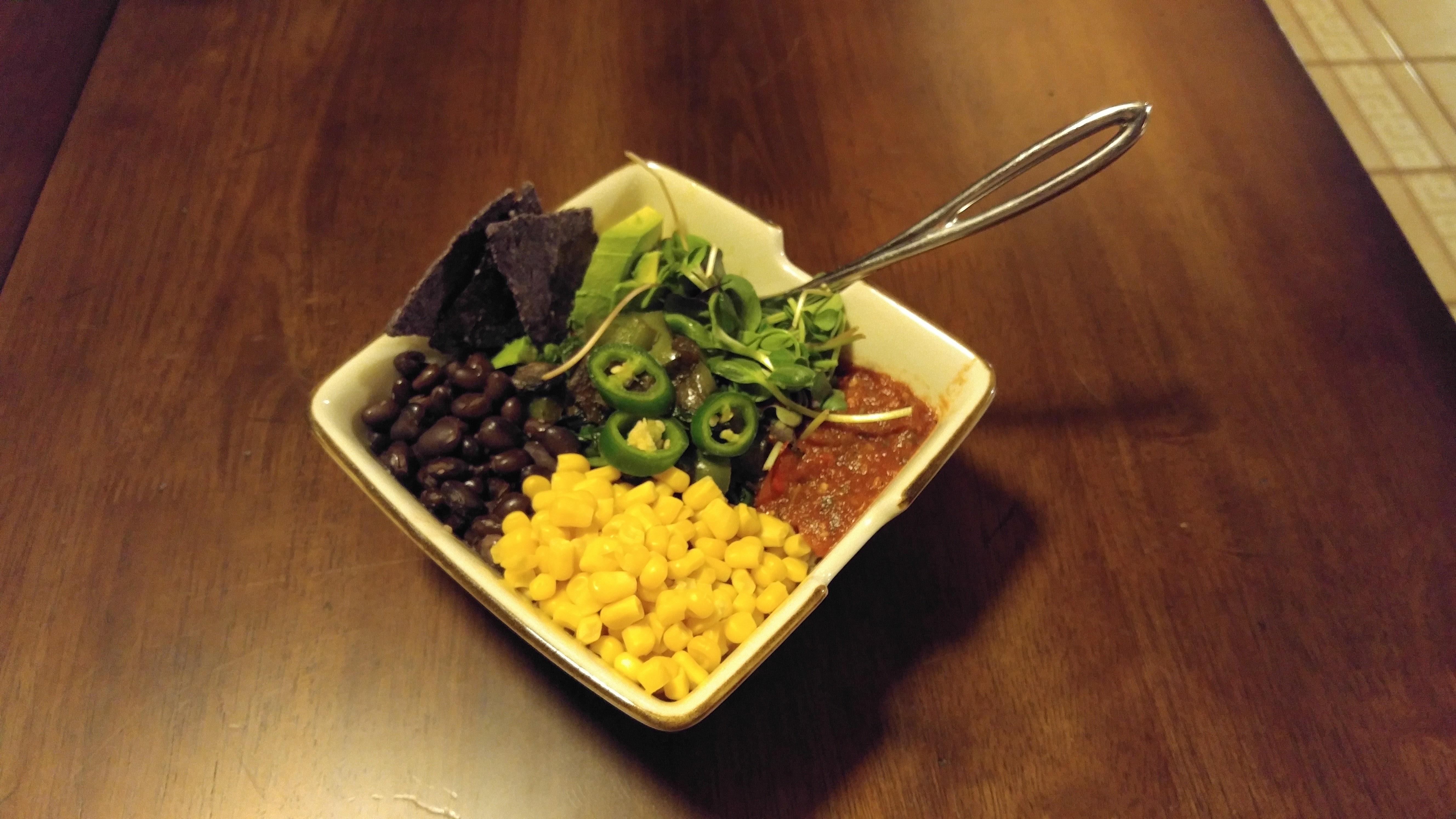 Black Beans Vegetables and Cauliflower Rice