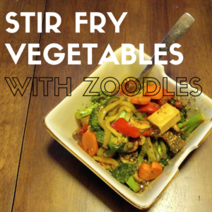 stir fry vegetables with zoodles