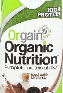 Orgain Organic Nutrition Shake, Iced Café Mocha, 11 Ounce, 12 Count